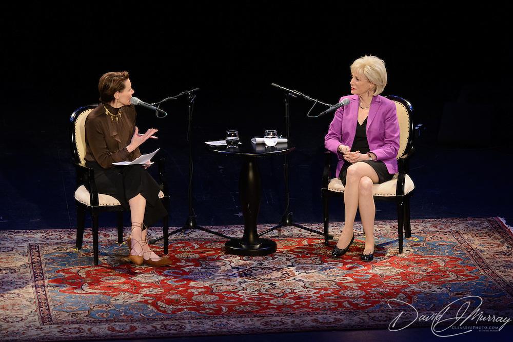 NHPR's Virginia Prescott interviews Lesley Stahl at The Music Hall, May 11, 2016