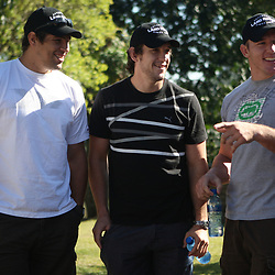 THURSDAY 13TH MAY 2010 / DURBAN SOUTH AFRICA<br /> Willem Alberts with Keegan Daniel  and Jean Deysel <br /> during the Sharks  off road for the Land rover Experience