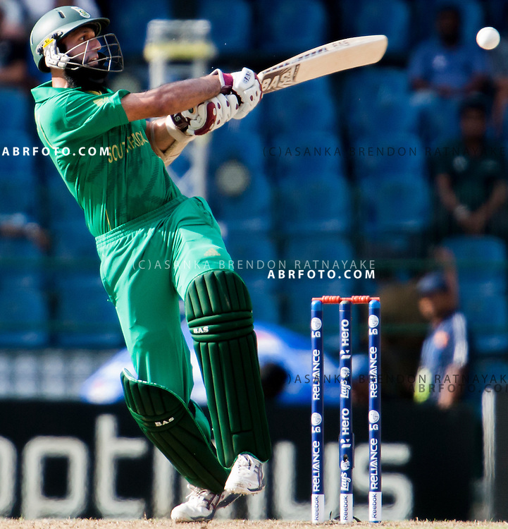 Hashim Amla batting during the ICC world Twenty20 Cricket held in Sri Lanka.