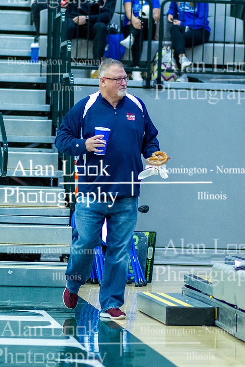 BLOOMINGTON, IL - January 04: Jeff Findley during a college basketball game between the IWU Titans  and the Millikin Big Blue on January 04 2020 at Shirk Center in Bloomington, IL. (Photo by Alan Look)