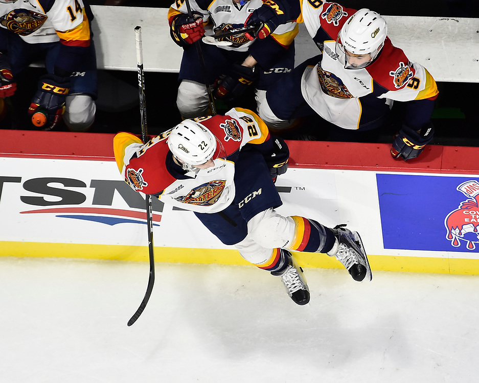 Anthony Cirelli of the Erie Otters in Game 4 of the 2017 MasterCard Memorial Cup against the Saint John Sea Dogs on Monday May 22, 2017 at the WFCU Centre in Windsor, ON. Photo by Aaron Bell/CHL Images