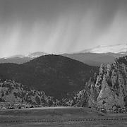 Spring time rain storm in Colorado