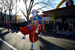 Mummers strut during the 117th annual New Year's Day Mummers Parade, in Philadelphia, PA, on Jan. 1st, 2017.