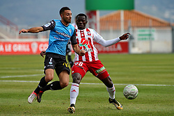January 27, 2018 - Ajaccio, CORSE, FRANCE - Mohamed Mady CAMARA (ACA) vs Haris BELKEBLA  (Credit Image: © Panoramic via ZUMA Press)