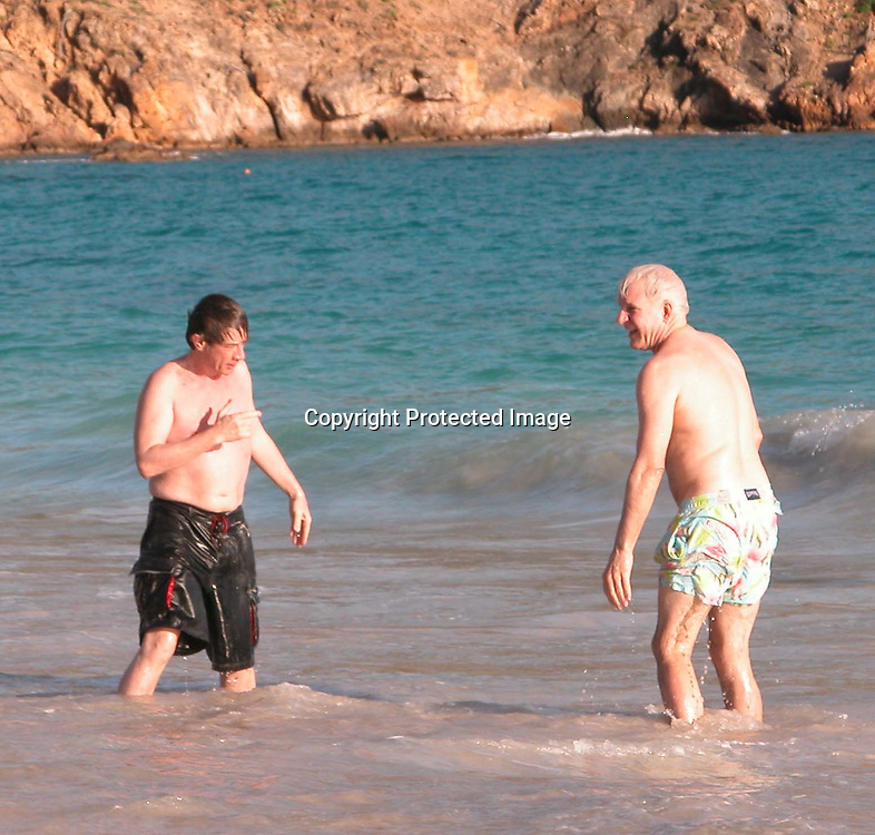 **EXCLUSIVE**<br />Steve Martin &amp; Martin Short with heir families having a body surfing match where Steve Martin was always winning and their girlfriends were sitting on the sand taking photos and being the judge of the winnings<br />Salines Beach, St. Barth, Caribbean<br />Thursday, January, 15, 2003<br />Photo By Celebrityvibe.com/Photovibe.com