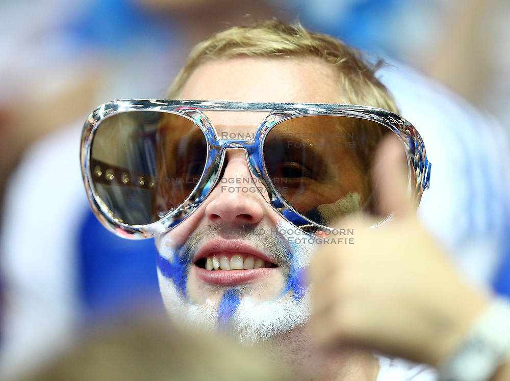 06.09.2014, Spodek, Katowice, POL, FIVT WM, Finnland vs Deutschland, Gruppe B, im Bild KIBICE FINLANDIA FANI // during the FIVB Volleyball Men's World Championships Pool B Match beween Finland and Germany at the Spodek in Katowice, Poland on 2014/09/06<br /> <br /> ***NETHERLANDS ONLY***