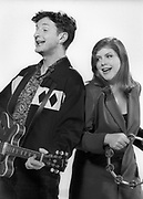 Billy Bragg with Kirsty Macoll 1992 during video shoot