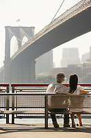 Couple Looking at Bridge