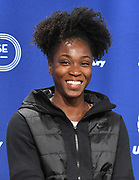 Feb 10, 2017; New York, NY; Tianna Bartoletta (USA) during a press conference prior to the 110th Millrose Games at the NYRR RunCenter.