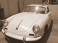 This mid-day picture shows a Porsche 356 in perfect condition.