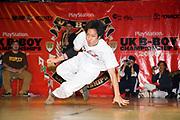 A Japaese boy dancing on stage. UK B-Boy championships 06. 08/10/2006
