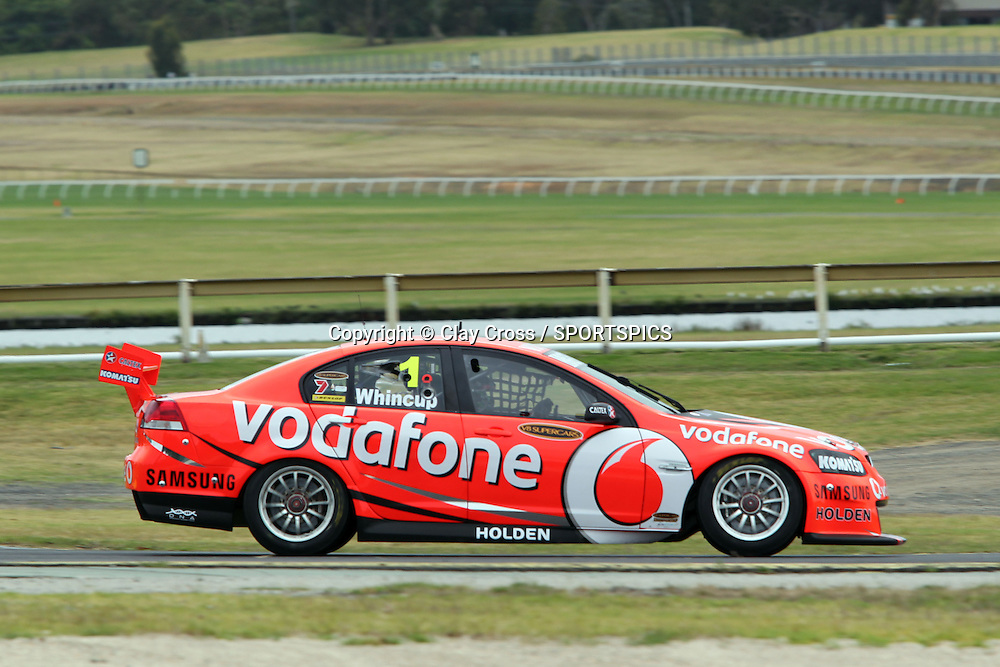 Jamie Whincup (TeamVodafone Holden). 2012 V8 Supercar Championship Series Test Day. Sandown International Raceway, Melbourne Victoria on Saturday 11 February 2012. Photo : Clay Cross / photosport.co.nz