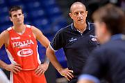 Ettore Messina<br /> Nazionale Italiana Maschile Senior<br /> Eurobasket 2017 - Group Phase<br /> Italia Italy <br /> FIP 2017<br /> Tel Aviv, 31/08/2017<br /> Foto Ciamillo - Castoria/ Mancini Ivan