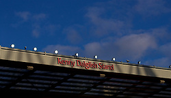LIVERPOOL, ENGLAND - Tuesday, May 8, 2018: Liverpool's newly renamed Kenny Dalglish Stand, formerly the Centenary Stand, and before that the Kemlyn Road, during the Under-23 FA Premier League 2 Division 1 match between Liverpool FC and Chelsea FC at Anfield. (Pic by David Rawcliffe/Propaganda)