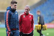 Swansea City manager Alan Curtis before the The FA Cup third round match between Oxford United and Swansea City at the Kassam Stadium, Oxford, England on 10 January 2016. Photo by Jemma Phillips.