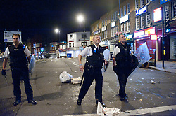 © Licensed to London News Pictures. 08/08/2011. London, UK.  Riots in Ealing Broadway. Photo credit : Marcia Petterson/LNP