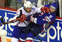 Tommy Jakobsen and Marcel Hossa at ice-hockey match Slovakia vs Norway at Preliminary Round (group C) of IIHF WC 2008 in Halifax, on May 03, 2008 in Metro Center, Halifax, Canada. (Photo by Vid Ponikvar / Sportal Images)