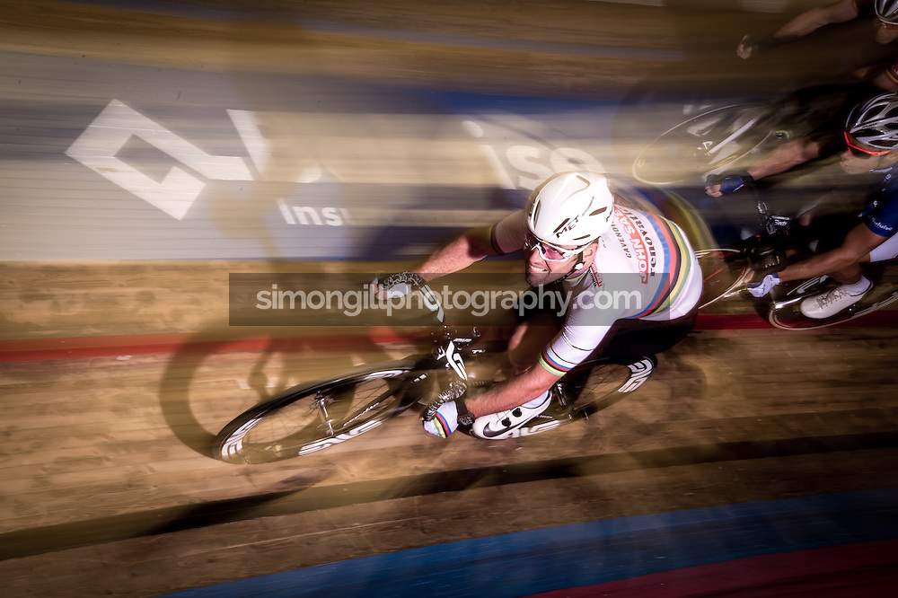 Ghent, Belgium - November, 2016: The 76th 6 Days of Ghent race at t'Kuipke Track Velodrome. Mark Cavendish