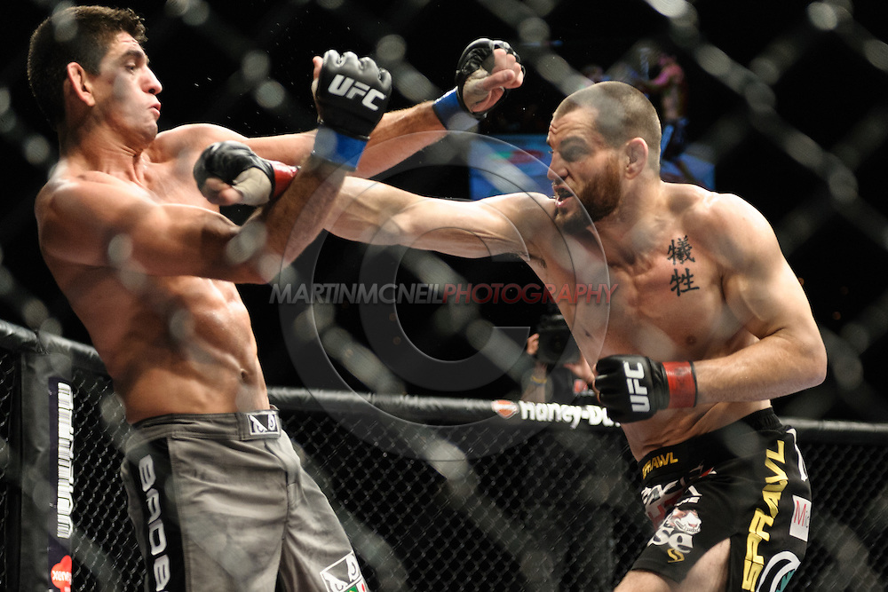 "LAS VEGAS, NEVADA. JULY 11, 2009: Jon Fitch and Paulo Thiago during ""UFC 100: Making History"" inside the Mandalay Bay Events Center in Las Vegas, Nevada."