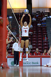 16 AUG 2008:  Jessica Pratapas sets the ball during the annual Red-White intra-squad scrimmage at Redbird Arena on the campus of Illinois State University in Normal Illinois.