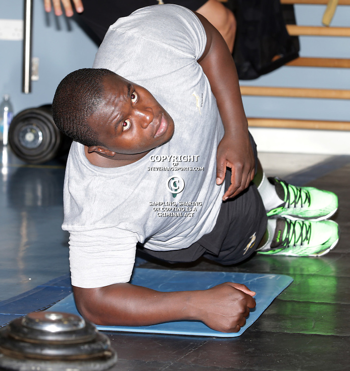GATESHEAD, ENGLAND - SEPTEMBER 28: Trevor Nyakane during the South African national rugby team gym session at Gateshead International Stadium on September 28, 2015 in Gateshead, England. (Photo by Steve Haag/Gallo Images)