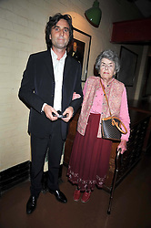 PHILIP KNATCHBULL and COUNTESS MOUNTBATTEN at the launch of the Imperial War Museum's 70th anniversary commemorating the outbreak of World War 11 held at the Cabinet War Rooms, Whitehall, London on 2nd September 2009.