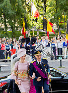 Brussels, 21-07-2017 <br /> <br /> <br /> King Filip and Queen Mathilde and their children attend a Te Deum at the Belgium National Day.<br /> <br /> PUBLISHING IN FRANCE ONLY<br /> <br /> COPYRIGHT: ROYALPORTRAITS <br /> EUROPE/ BERNARD RUEBSAMEN