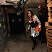 HunnyB attend BBC1 All Together Now Series 1 Cast Members, fright night at The London Bridge Experience & London Tombs on 28 October 2018, London, UK.