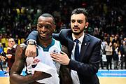 Gaines Frank Brienza Nicola<br /> Acqua S.Bernardo Cantu - FIAT Torino<br /> Lega Basket Serie A 2018-2019<br /> Torino 05/05/2019<br /> Foto M.Matta/Ciamillo & Castoria