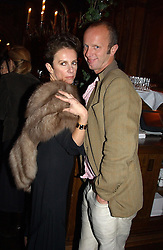 VICTORIA FERNANDEZ and JOHNNIE SHAND-KYDD at a party held at Tramp nightclub, 38 Jermyn Street, London to celebrate the opening of an exhibition by Martin Creed at the Hauser & Wirth London gallery, 196a Piccadilly, London on 12th October 2004.<br /><br />NON EXCLUSIVE - WORLD RIGHTS