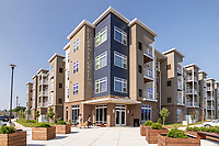 Exterior photo of Woodfall Greens Apartments in Baltimore MD by Jeffrey Sauers of Commercial Photographics