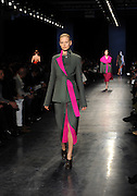 The Altuzarra Fall 2014 collection is modeled during Fashion Week in New York, Saturday, Feb. 8, 2014. (AP Photo/Diane Bondareff)