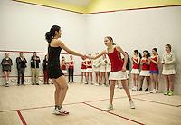St Paul's School girls varsity squash.    ©2016 Karen Bobotas Photographer