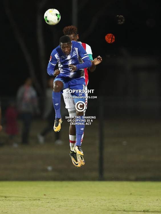 DURBAN, SOUTH AFRICA - AUGUST 23: Evans Rusike of Maritzburg Utd during the Absa Premiership match between Maritzburg United and Ajax Cape Town at Harry Gwala Stadium on August 23, 2017 in Durban, South Africa. (Photo by Steve Haag/Gallo Images)
