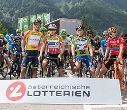 08.07.2017, Wels, AUT, Ö-Tour, Österreich Radrundfahrt 2017, 6. Etappe von St. Johann/Alpendorf nach Wels (203,9 km), im Bild v.l. Stefan Denifl (AUT, Team Aqua Blue Sport), Stephan Rabitsch (AUT, Team Felbermayr Simplon Wels), Ella Viviani (ITA, Nationale Italiana), Felix Grossschartner (AUT, Team CCC Sprandi Polkowice) // f.l. Stefan Denifl of Austria (Aqua Blue Sport) Stephan Rabitsch of Austria (Team Felbermayr Simplon Wels) Stephan Rabitsch of Austria (Team Felbermayr Simplon Wels) Felix Grossschartner of Austria (CCC Sprandi Polkowice) during the 6th stage from St. Johann/Alpendorf to Wels (203,9 km) of 2017 Tour of Austria. Wels, Austria on 2017/07/08. EXPA Pictures © 2017, PhotoCredit: EXPA/ Reinhard Eisenbauer