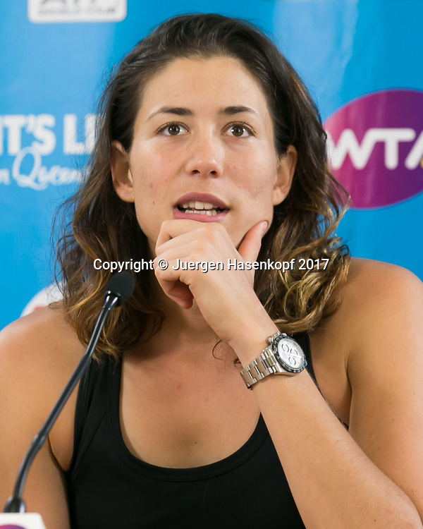 GARBI&Ntilde;E MUGURUZA (ESP), Pressekonferenz, Portrait.<br /> <br /> Tennis - Brisbane International  2017 - WTA -  Pat Rafter Arena - Brisbane - QLD - Australia  - 2 January 2017. <br /> &copy; Juergen Hasenkopf