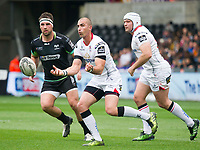 Rugby Union - 2016 / 2017 Guinness Pro12 - Ospreys vs. Ulster<br /> <br /> Ruan Pienaar of Ulster passes the ball out, at Liberty Stadium.<br /> <br /> COLORSPORT/WINSTON BYNORTH