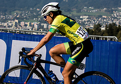 COELHO FERREIRA Camila of Brasil during the Women's Elite Road Race a 156.2km race from Kufstein to Innsbruck 582m at the 91st UCI Road World Championships 2018 / RR / RWC / on September 29, 2018 in Innsbruck, Austria. Photo by Vid Ponikvar / Sportida