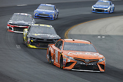 July 22, 2018 - Loudon, New Hampshire, United States of America - Daniel Suarez (19) brings his car through the turns during the Foxwoods Resort Casino 301 at New Hampshire Motor Speedway in Loudon, New Hampshire. (Credit Image: © Chris Owens Asp Inc/ASP via ZUMA Wire)