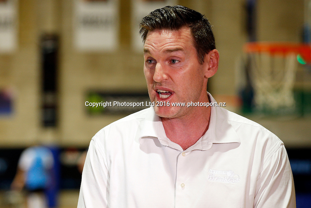 General Manager Dillon Boucher, Breakers media and training session. Breakers Gym, Auckland. 1 December 2016. Copyright Image: William Booth / www.photosport.nz