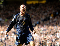 Photo: Jed Wee/Sportsbeat Images.<br /> Scotland v Lithuania. UEFA European Championships Qualifying. 08/09/2007.<br /> <br /> Scotland's Kris Boyd celebrates after opening the scoring.