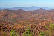 Scenic view from Blackrock summit, located in the southern portion of Shenandoah National Park, Virginia