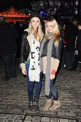 CARA DELEVINGNE and SOPHIA KERRISON at Skate presented by Tiffany & Co at Somerset House, London on 22nd November 2010.