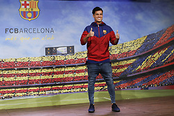 January 7, 2018 - Barcelona, Catalonia, Spain - January 8, 2017 - Camp Nou, Barcelona, Spain -Presentation of Philippe Coutinho as new player of the FC Barcelona, in Barcelona. (Credit Image: © Eric Alonso via ZUMA Wire)
