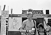 A punk with spiked mohican, Glastonbury 1994