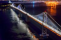 San Francisco-Oakland Bay Bridge @ Night
