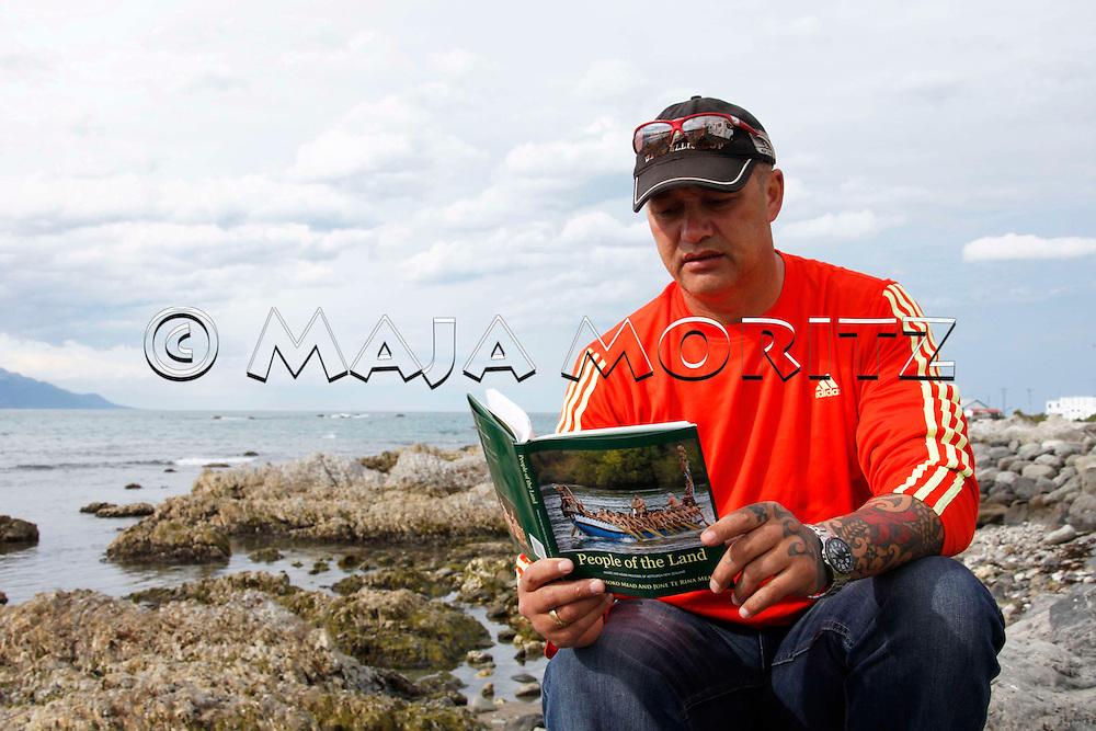 Steven Thompson, who is Maori and belongs to the tribes of Ngai Tahu and Ngati Apa, likes to read, Kaikoura, New Zealand