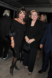 Left to right, JOAN COLLIN and BARBARA TAYLOR-BRADFORD  at a party to celebrate the publication of her  autobiography - The World According to Joan, held at the British Film Institute, South Bank, London SE1 on 8th September 2011.