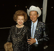 .Roy Rogers and Dale Evans arrive at the 20th Century Fox dinner during Queen Elizabeth II visit to California in March 1983...Photograph by Dennis Brack b23