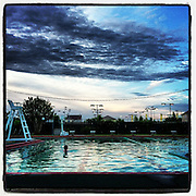 Swimming at Twilight, Algiers, New Orleans, LA